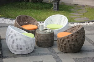 Rattan synthetic furniture
