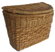 Pannier basket made by rattan