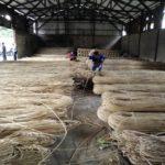 Rattan material warehouse
