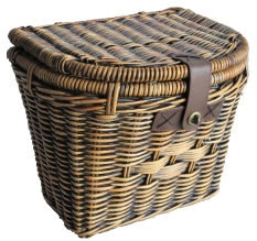 rattan bicycle baskets front rear