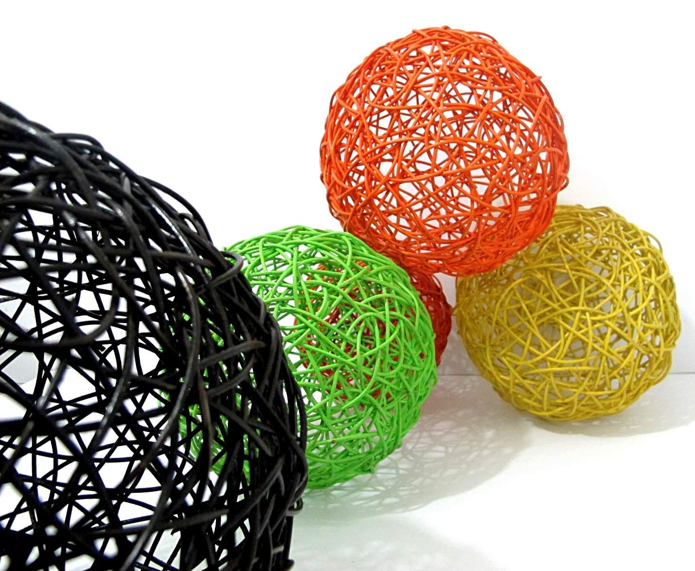Rattan Colorfull Ball Rattan Ball Rattan Home Decor Ball