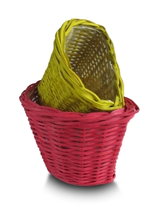 basket red maroon yellow white green
